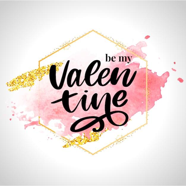 Bądź Moją Walentynką Premium Wektorów