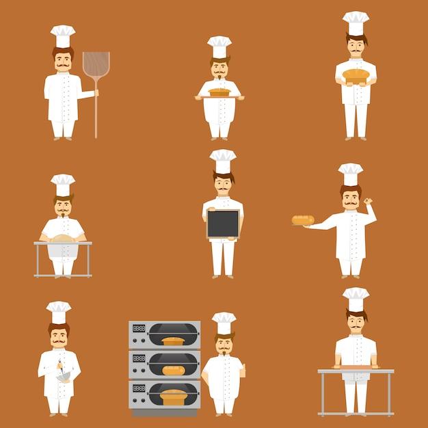 Baker Zestaw Znaków Darmowych Wektorów
