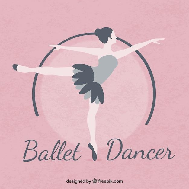 Balet Tancerz W Płaskiej Konstrukcji Darmowych Wektorów
