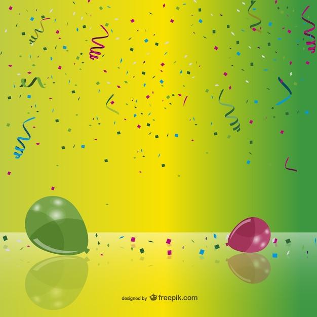Balonów I Konfetti Impreza Darmowych Wektorów