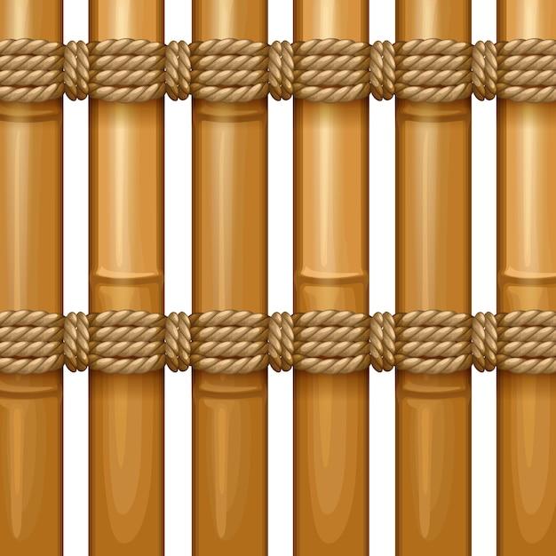 Bambusowy Wzór Tkania Drewna, Naturalna Wiklina Tekstury Powierzchni Premium Wektorów