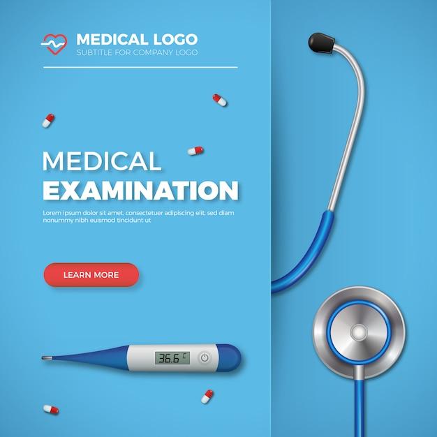 Baner Badania Lekarskie Premium Wektorów