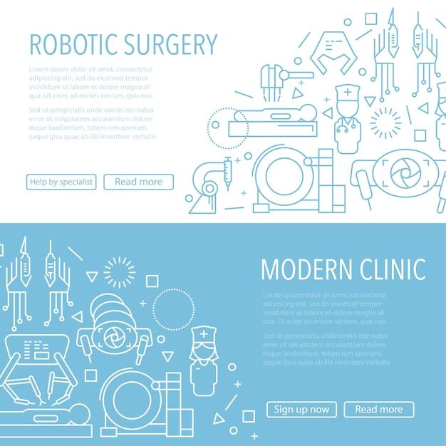 Baner Chirurgii Robotycznej Premium Wektorów