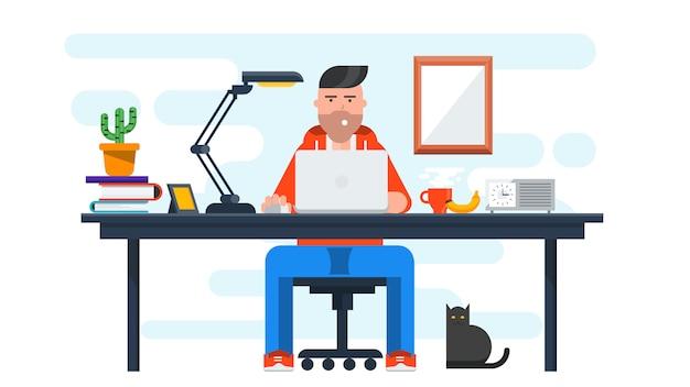 Baner Creative Workspace Premium Wektorów