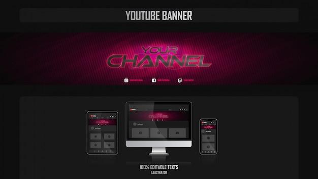 Baner Dla Kanału Mediów Społecznościowych Z Koncepcją Dla Graczy Premium Wektorów