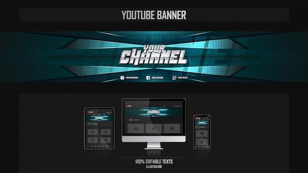 Baner Dla Kanału Mediów Społecznościowych Z Koncepcją Muzyki Premium Wektorów