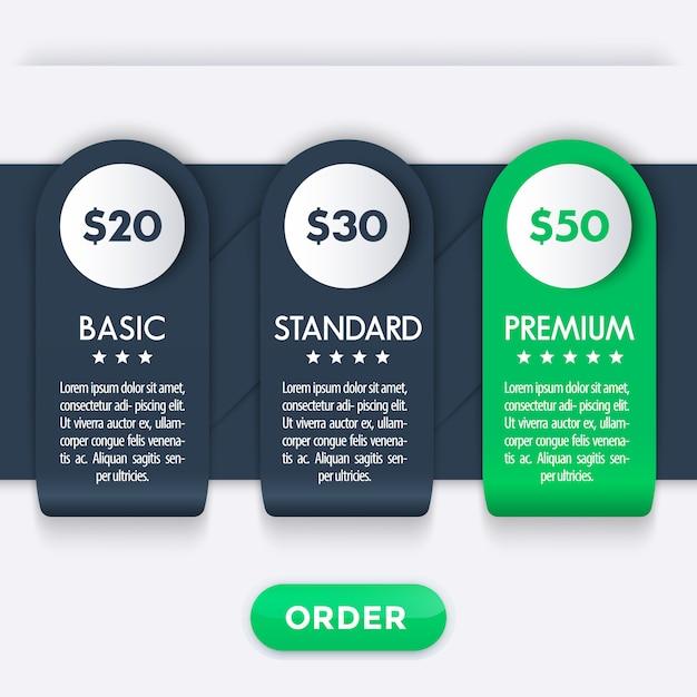 Baner Dla Szablonu Taryf Premium Wektorów