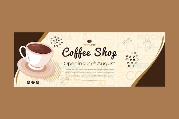 Baner Do Kawiarni Premium Wektorów