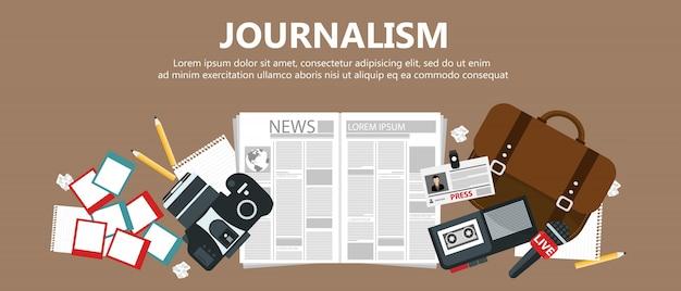 Baner Dziennikarski Premium Wektorów