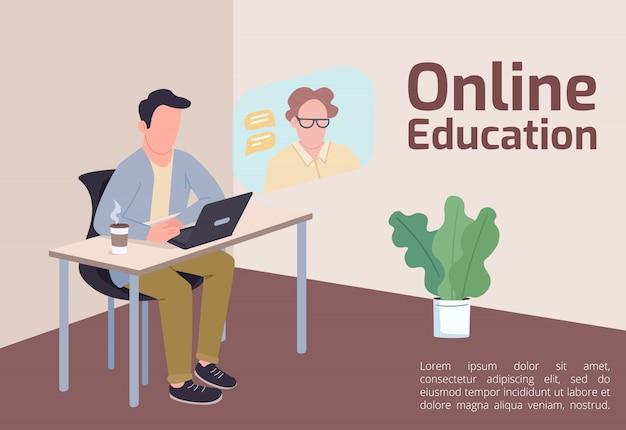 Baner Edukacyjny Online Premium Wektorów