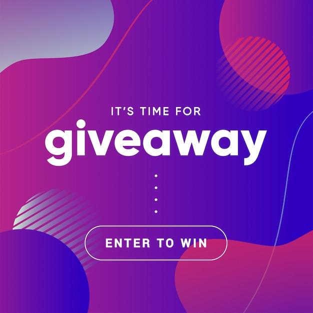 Baner Gratisowy Do Quizu Lub Konkursu Dla Obserwujących Lub Subskrybentów W Mediach Społecznościowych Premium Wektorów