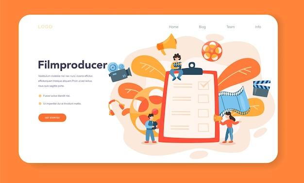 Baner Internetowy Lub Strona Docelowa Producenta Premium Wektorów