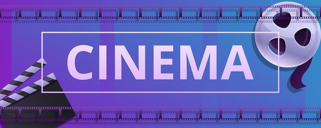Baner Koncepcja Kino, Stylu Cartoon Premium Wektorów