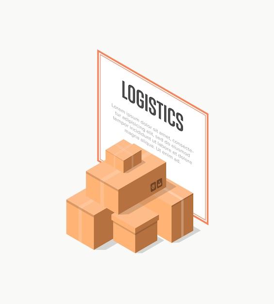Baner logistyczny dostawy handlowej Premium Wektorów