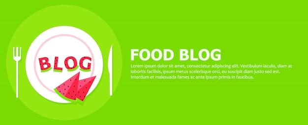 Baner Na Blog żywności Darmowych Wektorów