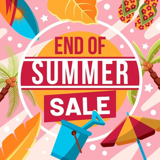 Baner Na Koniec Sezonu Letniej Sprzedaży Darmowych Wektorów