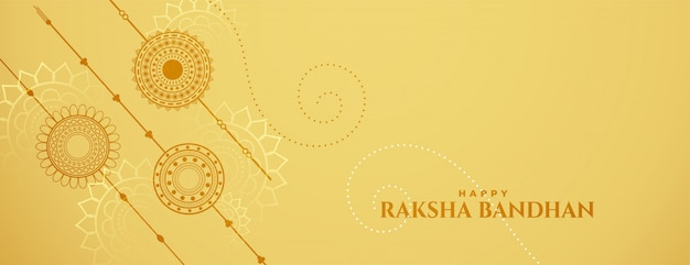 Baner Obchodów Raksha Bandhan Z Rakshi Darmowych Wektorów