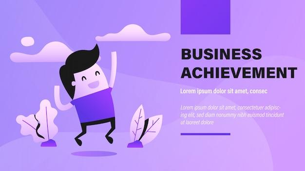 Baner osiągnięć biznesowych Premium Wektorów
