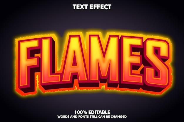 Baner Płomieni - Efekt Tekstowy Gorącego Ognia Darmowych Wektorów