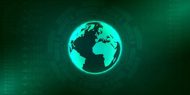 Baner połączenia technologii Premium Wektorów