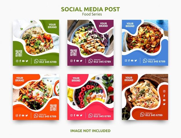 Baner Postu W Mediach Społecznościowych Premium Wektorów