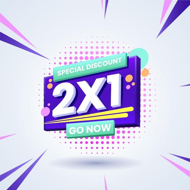 Baner Promocyjny 2x1 Premium Wektorów