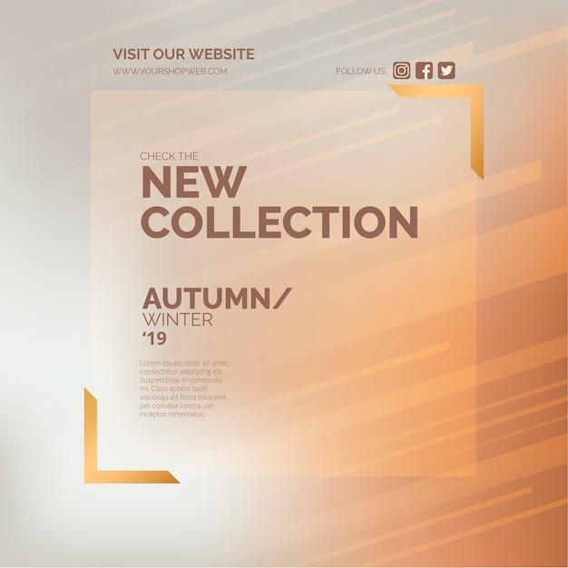 Baner Promocyjny Nowej Kolekcji Dla Sklepu Mody Darmowych Wektorów