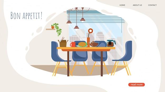 Baner Reklamowy Bon Appetit Literowanie Cartoon. Darmowych Wektorów