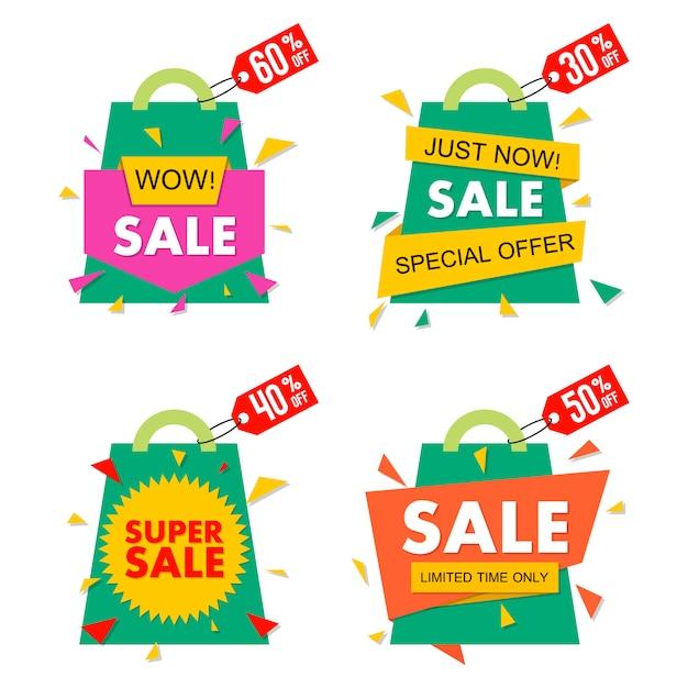 Baner Sprzedaż W Stylu Materiału Premium Wektorów