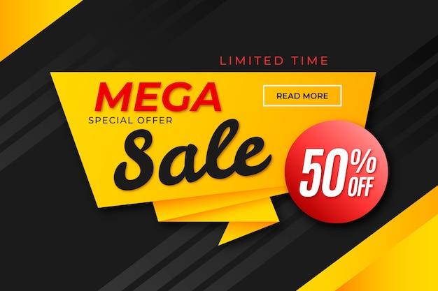 Baner Sprzedaży W Stylu Origami Premium Wektorów