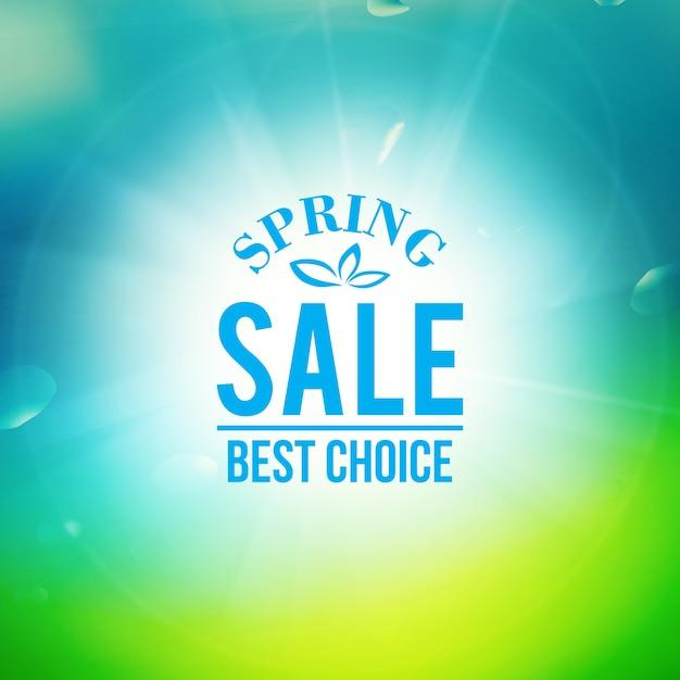 Baner Sprzedaży Wiosny Darmowych Wektorów