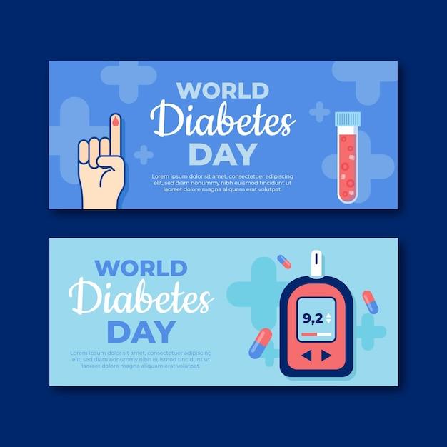 Baner światowego Dnia Cukrzycy Darmowych Wektorów