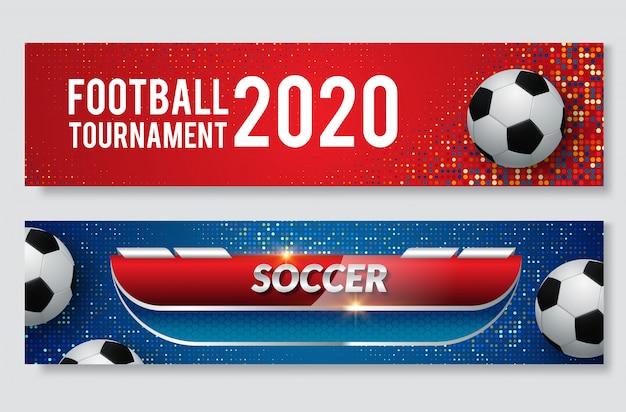 Baner www na wydarzenie sportowe Premium Wektorów
