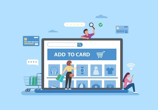 Baner Zakupów Online, Szablony Aplikacji Mobilnych, Koncepcja Płaska Darmowych Wektorów