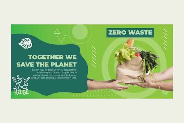 Baner Zero Waste Darmowych Wektorów