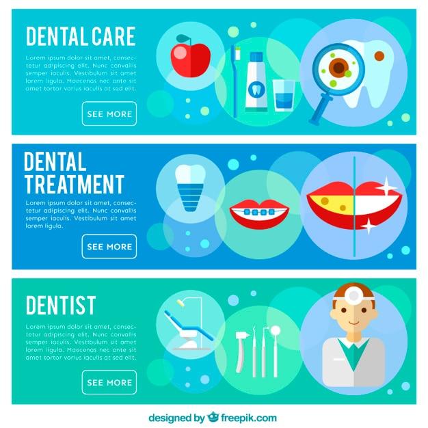 Banery dentysta Darmowych Wektorów