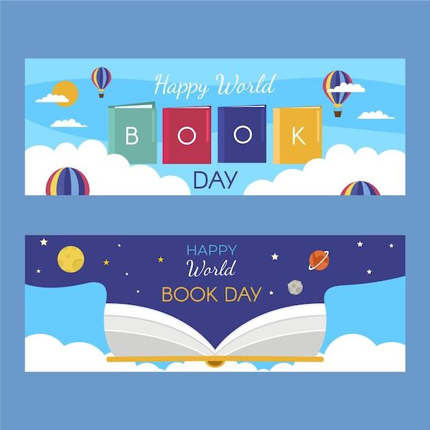 Banery Dzień Kreatywnego świata Książki Darmowych Wektorów