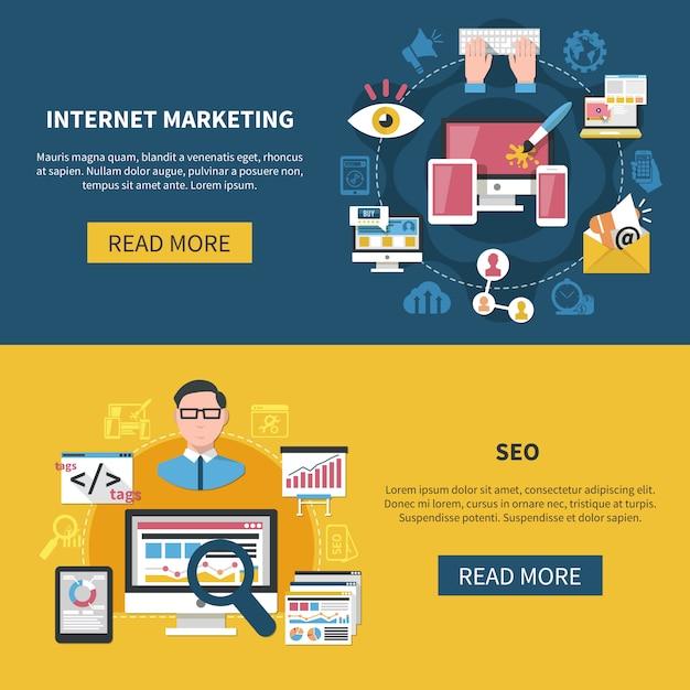 Banery marketingu internetowego Darmowych Wektorów
