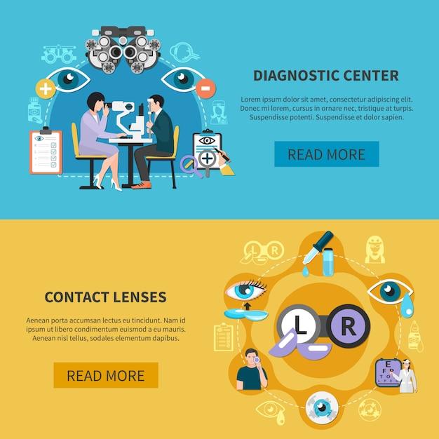 Banery Oculist Eye Care Darmowych Wektorów