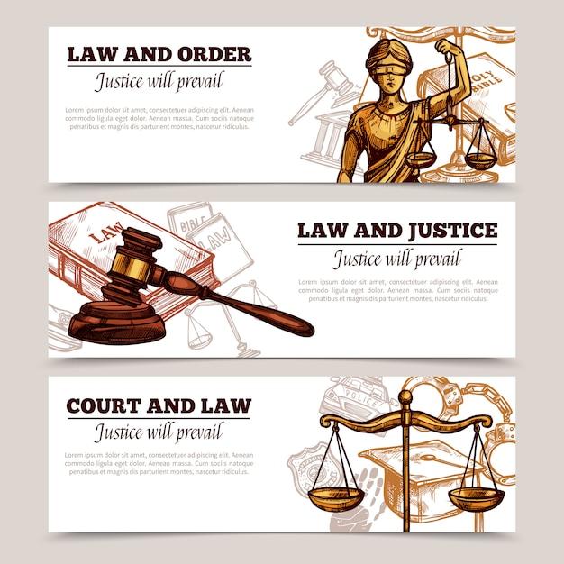 Banery poziome prawa Darmowych Wektorów