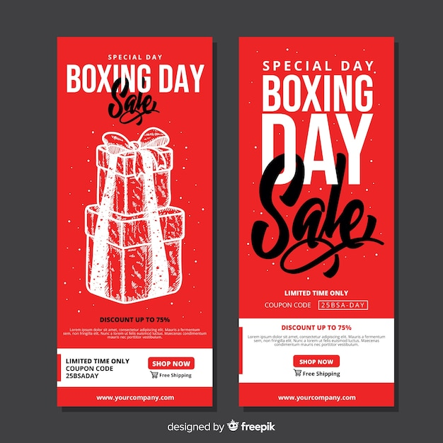 Banery sprzedaż dzień boxing Darmowych Wektorów