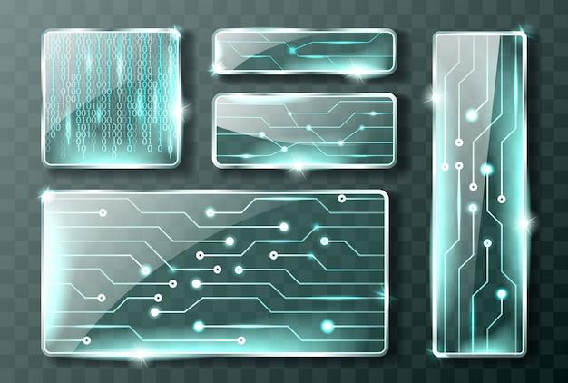 Banery Technologii Szklanej Darmowych Wektorów