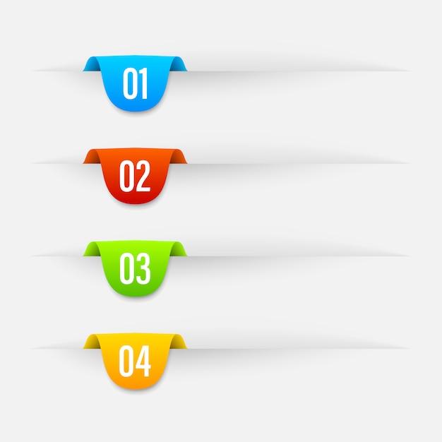 Banery W Kolorze Wstążki. Premium Wektorów