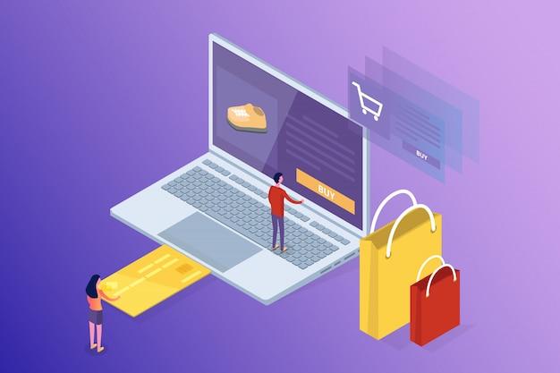 Bankowość Internetowa I Zakupy, Płatności Mobilne, Koncepcja Izometryczna Przelewu Pieniędzy. Ilustracja. Premium Wektorów