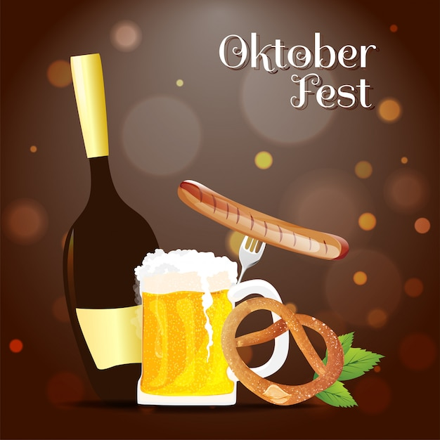 Banner Oktoberfest Premium Wektorów