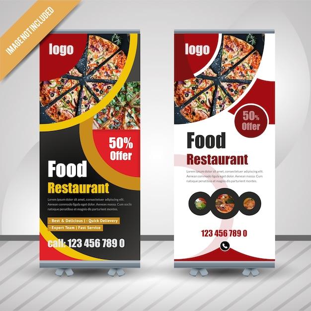 Banner Roll Up Roll Do Restauracji Premium Wektorów
