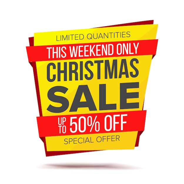Banner sprzedaży świątecznej Premium Wektorów