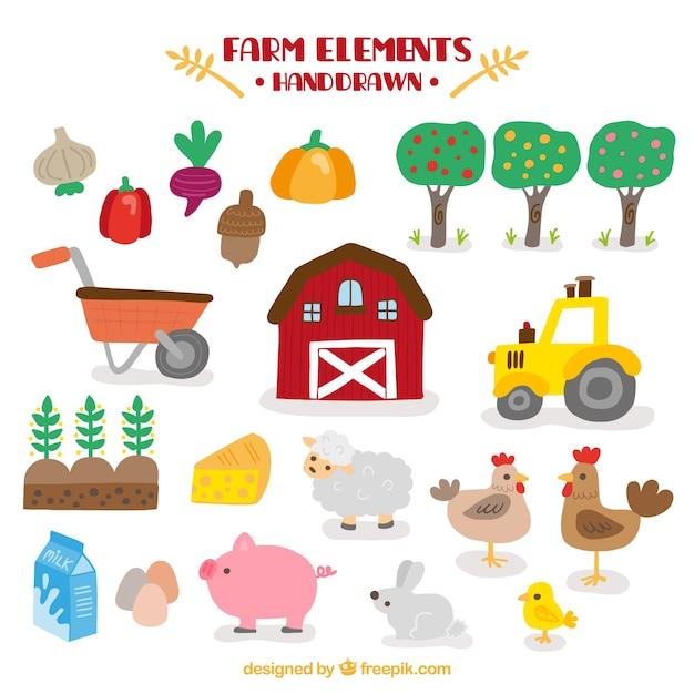 Barn I Farmy Akcesoria Darmowych Wektorów