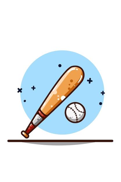Baseball Ilustracja Rysunek Ręka Premium Wektorów
