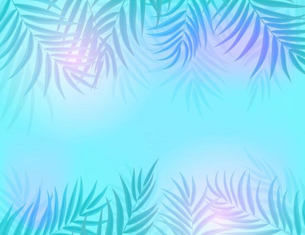 Beautifil Palm Tree Leaf Silhouette Premium Wektorów